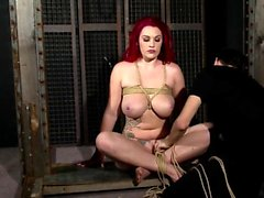 Beautiful fetish bum actions with latex and bdsm