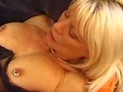 French cougar Eva Delage smokes before sex
