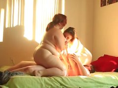 BBW Threesome with Thin Asian Squirter