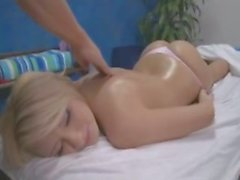 Blonde gets pounded at her massage