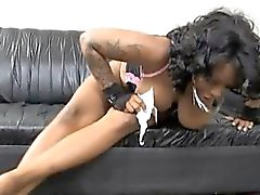 Huge Gunned Black Ghetto Whore Face Fucked Raw