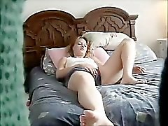 Shalene masturbating on bed