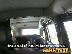 FakeTaxi Brunette sucks fucks and takes it in the ass