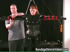 Kinky MILF gets tied and cunt inspected part1