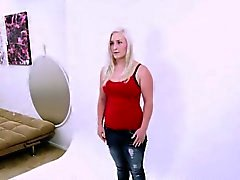 cute blonde fucked at casting audition photo shoot
