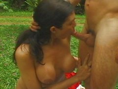 Transsexual outdoor sex