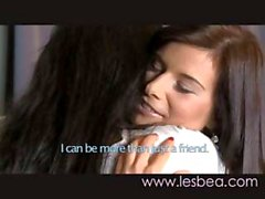 Two brunette lesbians try it out and do some sixty-nine licking