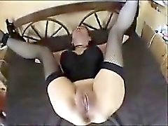 Tied spouse up gets her fat openings toyed fucked