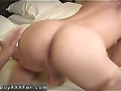 Gay fuck Ricky has his 2 torrid friends over to dangle out.