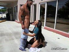 Ebony Chick Swallows Monster Cock Of Boyfriend