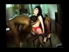 Buxom bright MILF gets her vagina interracial gangbanged