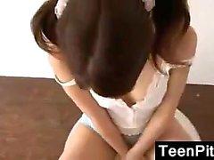 Asian Teen Being A Tease