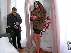 Cock addicted Emma with enormous knockers seduces real estate agent