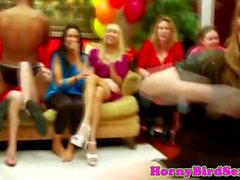 Cocksucking housewives partying in group