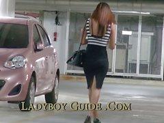 Car Park Thailand Ladyboy Pickup