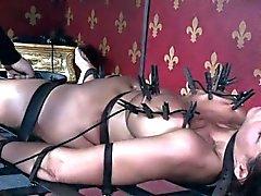 Peituda escravo de MILF recebe as mamas dela punidos