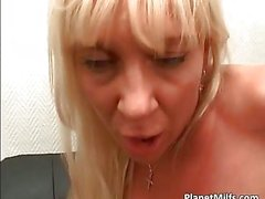 Non stop gang bang action with attractive blonde