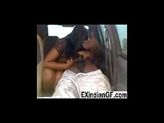 Amateur Indian couple fucking inside parked car