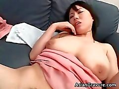 Nasty and busty asian babe gets tit part5