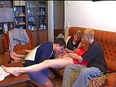Caras russos e avó