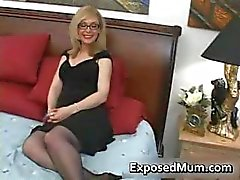 Blond milf in glasses licking hard part2