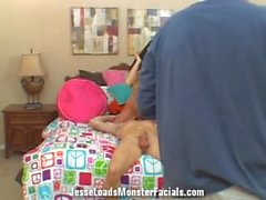 Complete Behind the scenes footage Ana Reed wearing cum on her face