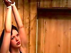 Perv disciplines a busty hottie in this cruel BDSM scene