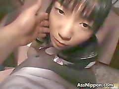 Hina Sakura söt verklig asiatiska modellen spelar