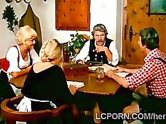 Perv fucks grandma in vintage scene