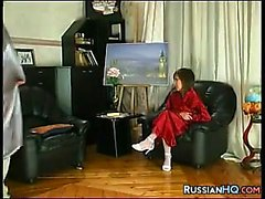Russian Schoolgirl Fucked By Her Teacher
