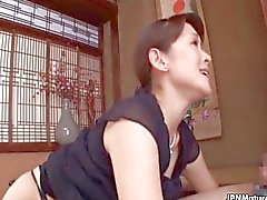 Horny Japanese mom loves sucking