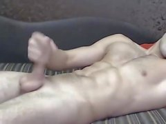 Handsome guy jerk off (Merry Christmas and a Happy New Year)