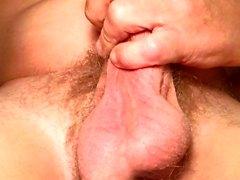 Close up masturbation and edging to multiple cumshots