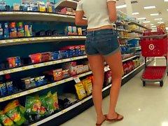 Slim sexy short shorts