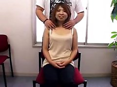 Desirable Japanese girl with a cute smile gets her perky ti