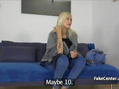 Blond babe fucked and toyed on casting