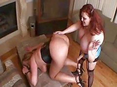 BBW Zoey and Amber Lesbian Strapon