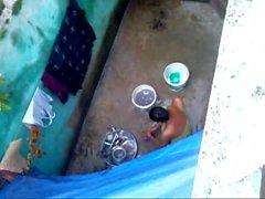 desi odia married girl washing utensil showing nice boobs