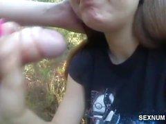 Polka poznana na sexnumerki robi mi loda w lesie