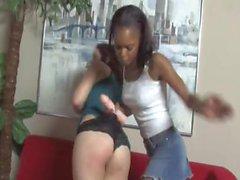 Interracial Femdom Black Girl on White Girl