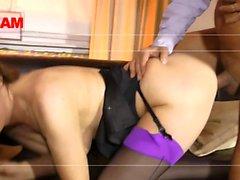 Cumswapping british sluts in threesome