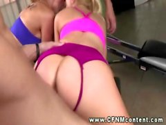 Sexy cfnm babes fucked from behind by these lucky guys