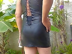 lovely PU dress