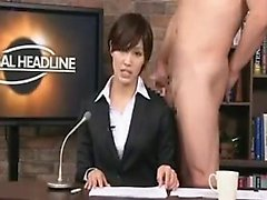 Irresistible Japanese lady working her skillful hands on a