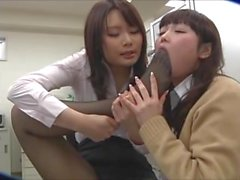 Japanese schoolgirl loves the smell of her teacher's sweaty feet