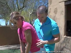 Stepson teaches stepmom how to golf - Milfsexdating Net