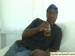 Black cock loving blonde sucking nigga