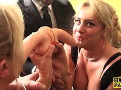Bound british sub made to squirt by maledom