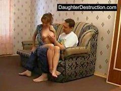 Reala rysk Dad och steget dotter