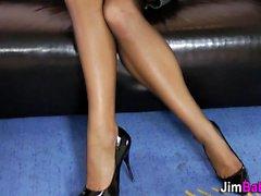 Stockings slut nailed pov